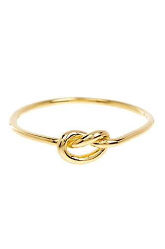 Sterling Silver Vermeil Ring (Sterling Forever Love Knot Ring in Gold Vermeil, Knot Ring, Promise Ring (8))