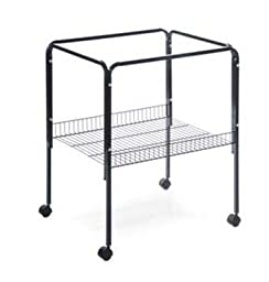 Black, Bird Cage Stand