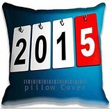 Cushion Cover To Decorate Calender 2015 Throw Pillow Cases Polyester and Cotton , Cool Zippered Chair Cushion Covers , Fantasy Pillowcases for Home (Cool Calenders 2015)