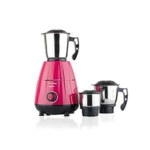GREENCHEF MELON01 600W Mixer Grinder, Dark Pink