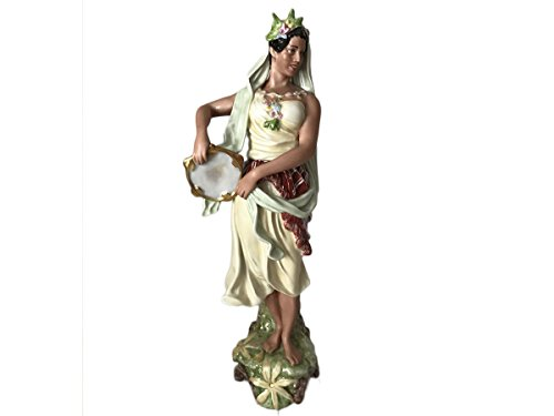 Royal Dux Bohemia Large Classical Porcelain Figurine Victorian Gipsy Woman Czech Made