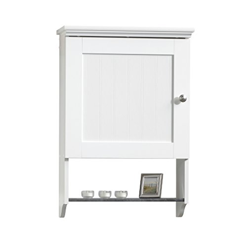 sauder wall cabinet soft white finish