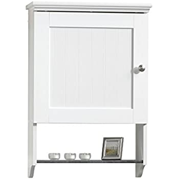 Amazon.com: Sauder Wall Cabinet, Soft White Finish: Kitchen & Dining
