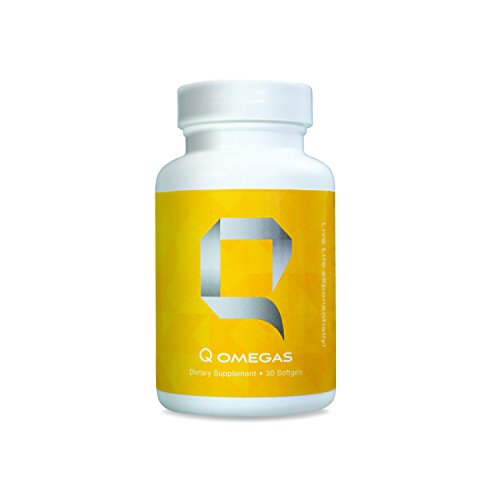 Q Omegas - Omega 3 Fish Oil Supplements | Metabolism Booster | Brain Health Supplement | Dietary Supplement | Phospholipids | DMAE Supplement | Lipase Enzyme | Citocoline | Lecithin - 30 capsules