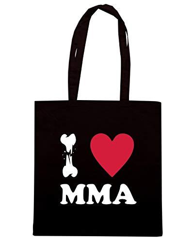 Borsa Shopper Nera TBOXE0083 I LOVE MMA