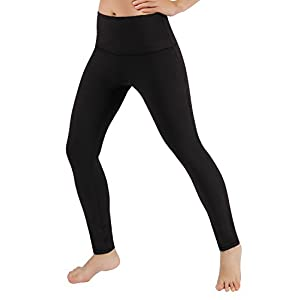 ODODOS Power Flex High-Waist Yoga Pants Tummy Workout Running Pant with Hidden Pocket