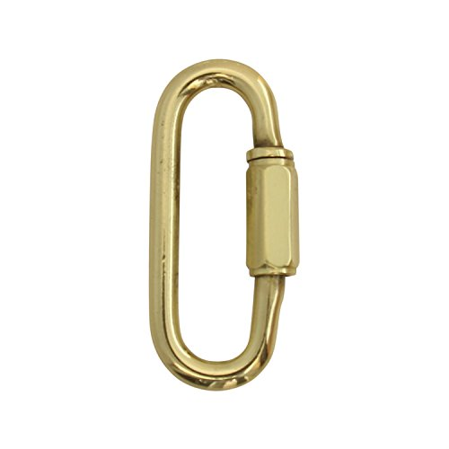 (RCH Hardware QL-B60-PB-2 Solid Brass 5 Gauge Quick Link for Connecting Chains to Fixtures | 2)