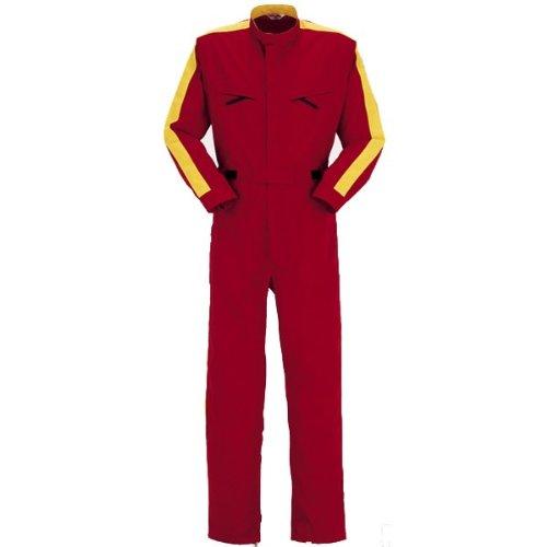 PERSON'S (パーソンズ)長袖つなぎ ツナギ おしゃれウエストすっきり yt-p014 B008H1TR7Q 3L レッド レッド 3L