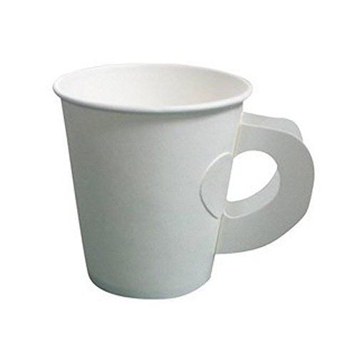4 oz. White Paper Cups with Handle Paper
