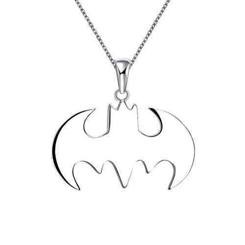 Keliay Summer Style Batman Silver Necklace Best Gift For Friends Steampunk Jewelry Best for Gift (silver)