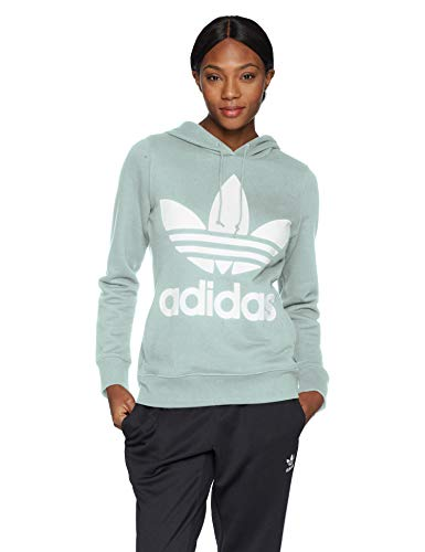 adidas Originals Women's Trefoil Hooded Sweatshirt, vapour green, Small Army Logo Hooded Sweatshirt