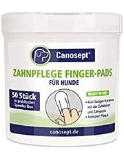 Canosept Zahnpflege Finger-Pads für Hunde / Fingerling für effektive Reinigung, Mundhygiene und frischen Atem / Reduziert Plaque / 50 Stück