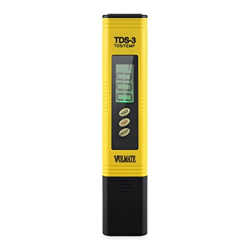 Volmate TDS3-1 Volmate TDS-3 Water Quality Digital TDS Meter Tester, ATC/Measuring Temperature/Data Hold/Auto-off Function