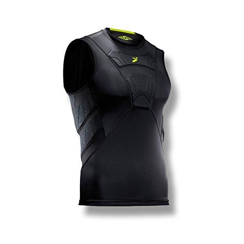 Storelli BodyShield Sleeveless Undershirt |Protective Soccer Equipment |UV Resistant|Sweat-Wicking|Black (Jersey Body Football)