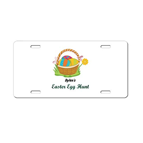 Personalized Custom Text Easter Egg in Baskets Aluminum Car License Plate