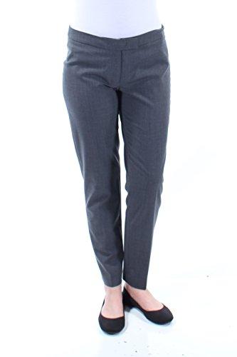 Anne Klein Womens Wool Blend Ankle Dress Pants Gray ()