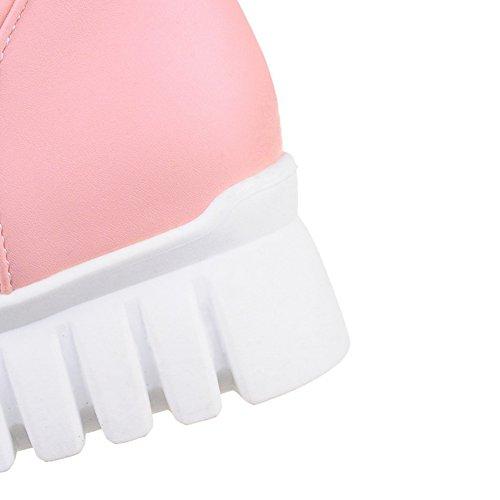 Color Morbida Rosa Snow Winter Vitello In Comfort Decostain Stivali Caldi Di Pelle Carne EwYvgWq7x