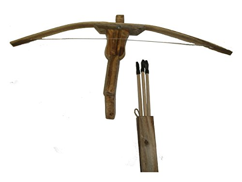Texas Toy Workshop Wooden Crossbow with Quiver Set -