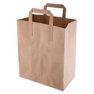Reciclado marrón bolsas de papel para: Amazon.es: Hogar