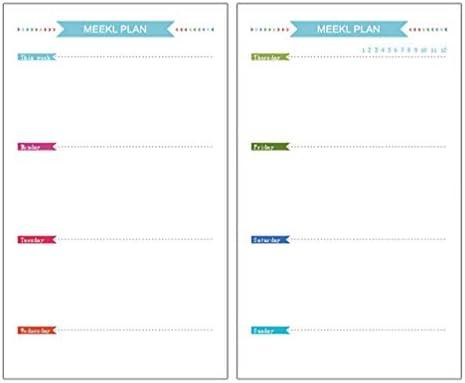 STOBOK A5 6 Löcher Nachfüllpapier Refill Papier für A5 Ringbuch Notebook Journal täglich wöchentlich monatlichen Plan Liste einfügen Papiere 160 Blatt
