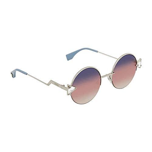 Fendi Women's Round Sunglasses, Violet Gold/Grey Fuschia, One ()