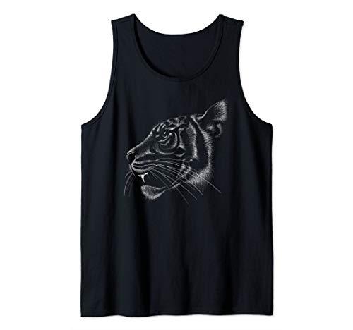 White Tiger, Cheetah, Mountain Lion, Puma, Cat Wild, Panther Tank Top