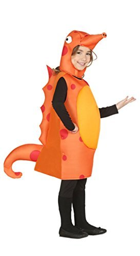 Girls Boys Childs Orange Seahorse Animal Sea Creature Film Fancy Dress Costume Outfit (3-4 Years)