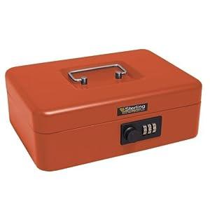 Burg Wachter CB03CR Combination Lock Cash Box, Red, 10″