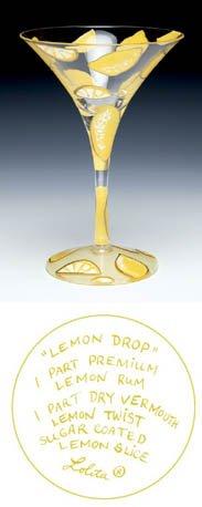 Discontinued Lolita Glassware Martini - Lemon Drop by Lolita Love My Martini