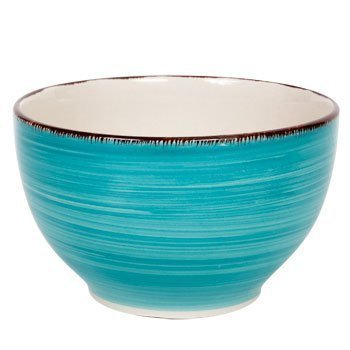 Royal Norfolk Turquoise Swirl Stoneware Bowls - 5 1/2, Set of 4