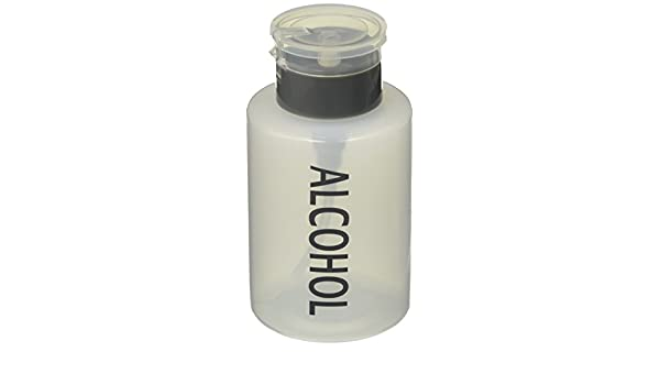 Tech Med 4024 Liquid Push Down Alcohol Dispenser, Clear Bottle, Labeled, 9 oz. Bottle: Amazon.com: Industrial & Scientific