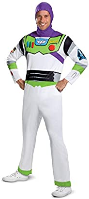 Disney mens Disguise Disney Pixar Toy Story and Beyond Buzz Lightyear Classic adult sized costumes, White/Gree
