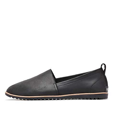 Sorel - Women's Ella Slip On Leather Shoes, Black, 8.5 M US from Sorel