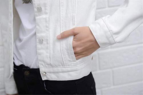 Manica Mode Cappotto Bavero Giacca Lunga Autunno Coat Eleganti Distressed Fashion Stile Di Tendenza Marca Ragazze Donna Bolawoo Fidanzato Primaverile Jeans Bianca vqgUwU