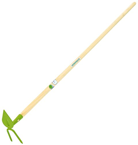 Verdemax 3280 Heart Hoe with 2 Prong Cultivator and Wooden Handle