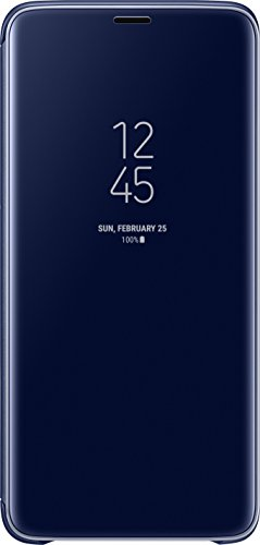 Official Genuine Samsung Clear View Cover Case for Samsung Galaxy S9+ (Blue)