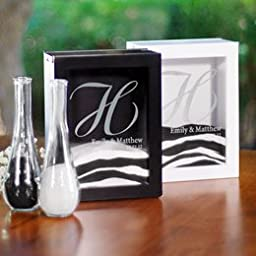 Top Seller Design it Yourself! Being Creative Unity Sand for Wedding Ceremony - Personalized (Set of 4) White/ PS3917W