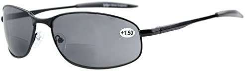 e6b63422ab6 Eyekepper Metal Frame Fishing Golf Cycling Flying Outdoor Bifocal Sunglasses  Black +2.5