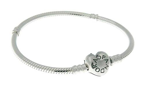 "Pandora Women's Silver Bracelet with Heart Clasp 7.1"" 590719-18 from PANDORA"
