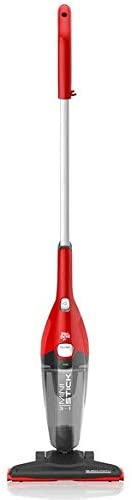 Dirt Devil 3-in-1 Mini Stick Bagless Vacuum Cleaner with Removable Hand Held Vac, Lightweight, SD22015PC, Red
