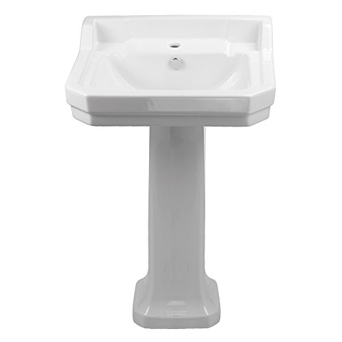 China series large single bowl single hole bath sink  with pedestal
