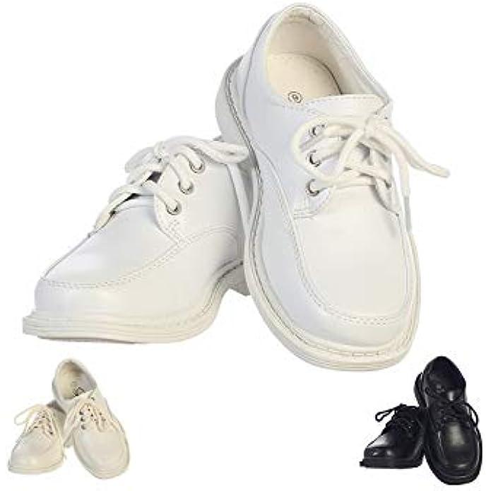 Lito Children's Wear Boys Dress Shoe - Lace Up Communion - Wedding, Graduation, Formal Matte Shoe