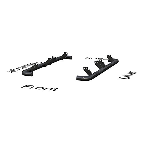 ARIES 204075 3-Inch Round Black Steel Nerf Bars Select Hummer H2