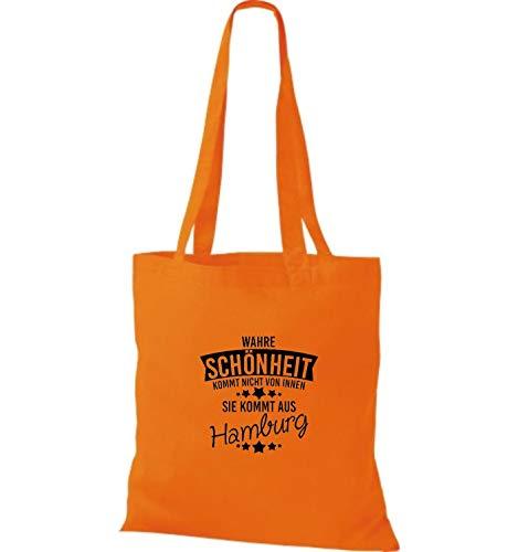Tela Verdadero De Hamburgo Bolsa Belleza Shirtstown Viene Naranja Aus wq4fHFvZ