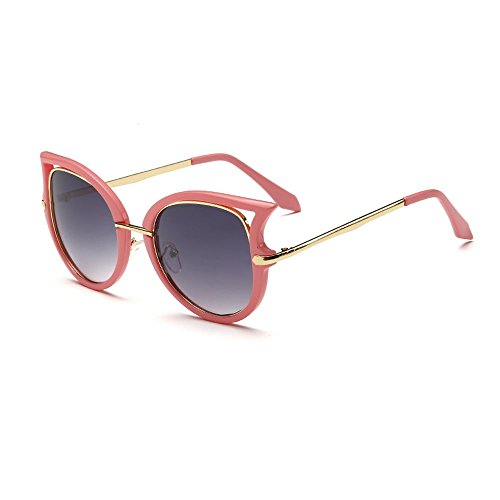Women's Fashion Flash Mirror Vintage Cat Eye Sunglasses (Pink, - Fifty Sunglasses Fifty