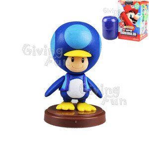 Super Mario Bros Baby Penguin Toad Mini Figure -