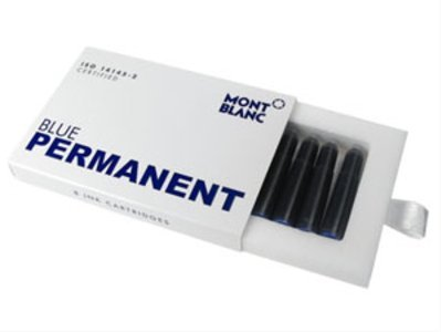 Montblanc Permanent Blue Ink Cartridges Refill