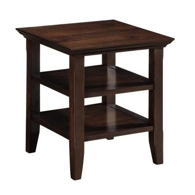Acadian Collection End Table in Tobacco Brown Perfect