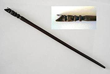 Zauberartikel & -tricks Kinder Schlangen Zauberstab ca.135 cm Holz handgeschnitzt Magier Schlangenstab