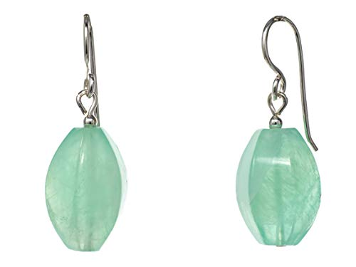 FRONAY Green Quartz Dangle Earrings in Sterling Silver - Made in USA -